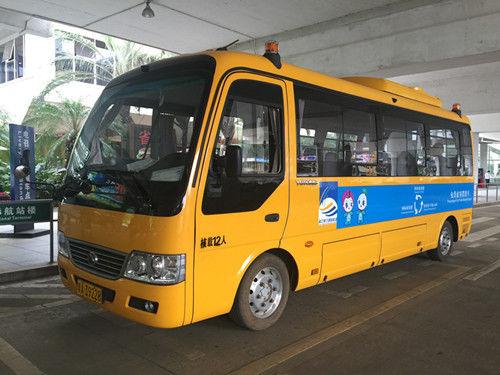 E7变身机场VIP摆渡车 宇通纯电动稳定运行祖国最南端